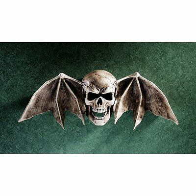 Halloween Entryway (Skull Wings Statue Wall Art Sculpture Medieval Gothic Halloween Entryway Decor)