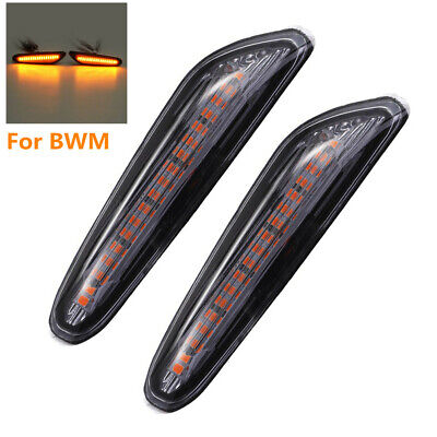 Pair Flowing LED Side Marker Turn Signal Error Free Light For BMW 1,3,5 Series