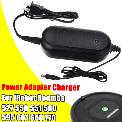 Power Adapter Charger for iRobot roomba 527 550 551 560 595 601 650 770 Series