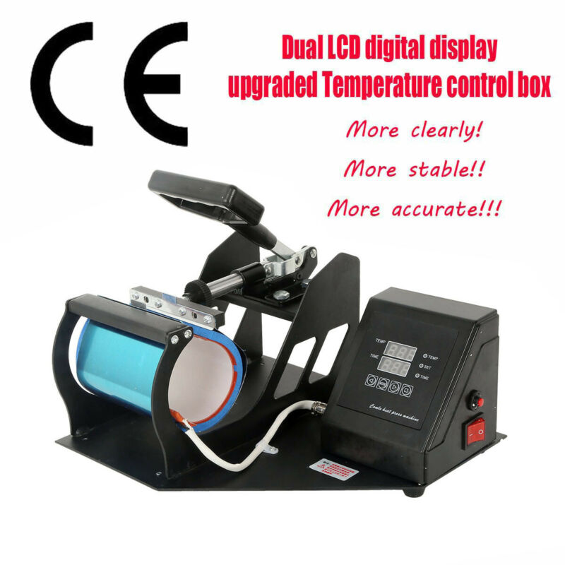 Dual Digital Display Heat Press Transfer Sublimation Machine For Coffee Mug Cup
