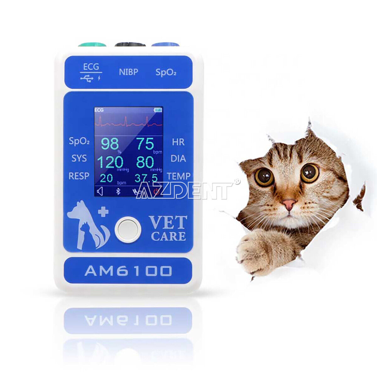 Veterinary Patient Monitor Animal Portable Monitor AM6100 Android Pet Care 1