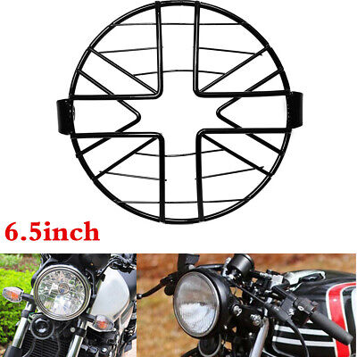 UNIVERSAL 65 MOTORCYCLE HEADLIGHT LAMPSHADE MESH GRILL COVER MASK