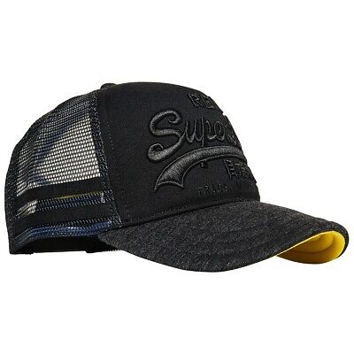 Superdry NEW Men's Premium Good Cap - Washed Black BNWT