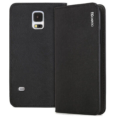 Cases 5 Lot Black Case - [10pieces/lot] Case For Samsung Galaxy S5 Poetic【FlipBook】Lightweight Case Black