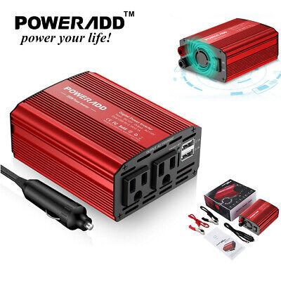 12V DC to 110V AC 300W Car Power Inverter W/ Dual USB Outlets Auto Truck Adapter Auto Car Power Inverter Adapter