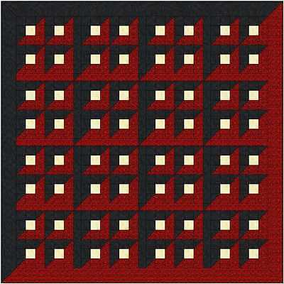 Quilt Kit/Red/Black/Labrynith!/Pre-cut Fabrics Ready To Sew/Stunning!!