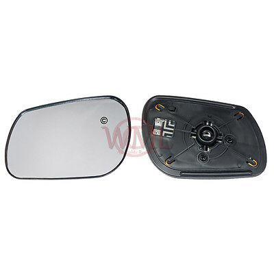 MAZDA 3 2003->2008 DOOR/WING MIRROR GLASS SILVER CONVEX,HEATED &BASE,LEFT SIDE