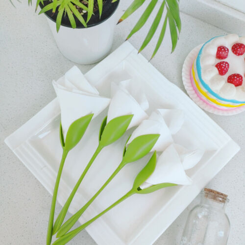 4pcs/Set Bloom Napkin Holders for Tables ABS Plastic Twist F
