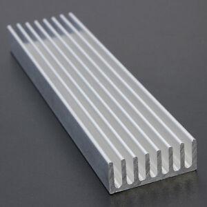 100x25x10mm Long Aluminum Heat Sink Chip Cooling LED Power IC PC Heatsink Cooler