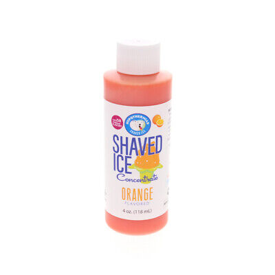 Orange Snow Cone And Hawaiian Shaved Ice Unsweetened Flavor Concentrate 4 Fl Oz