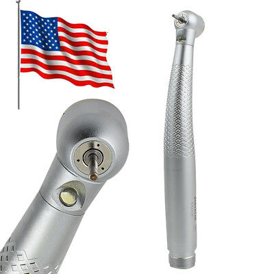 Dental High Speed E-generator Led Handpiece Standard Push Button 3 Spray 2 Hole