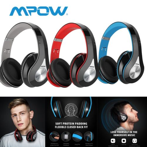 Mpow 059 Bluetooth 4.1 Headphone Hi-Fi Wireless Stereo Mic F