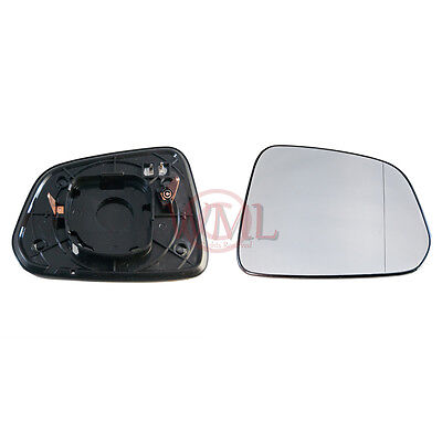 VAUXHALL ANTARA 2006->2019 DOOR MIRROR GLASS SILVER ASPHERIC,HEATED&BASE,RIGHT