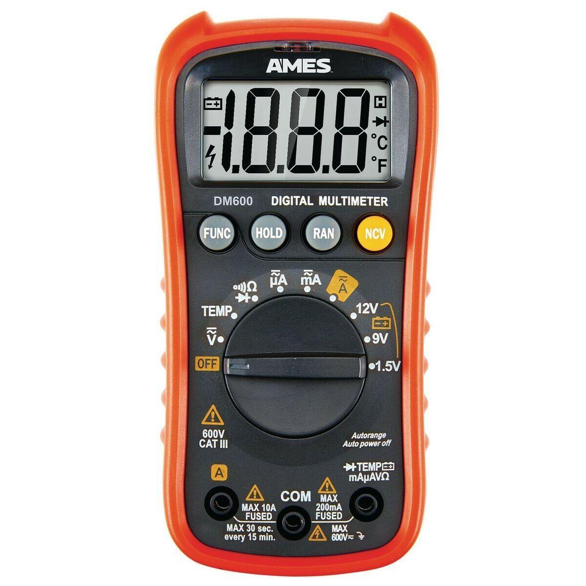 AMES INSTRUMENTS DM600 Compact Digital Multimeter - $29.95
