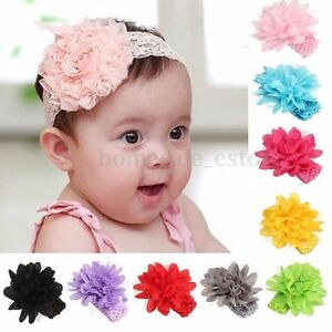 Baby Girl Kid Flower Crochet Headband Hair Band Accessory Headwear