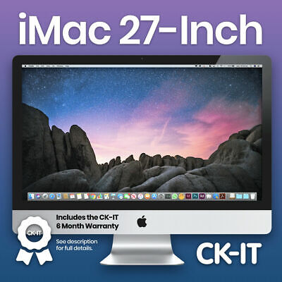"Apple iMac 27"" Intel C2D 3.06Ghz / 1TB / 4GB / DVD / Good Condition - S03"