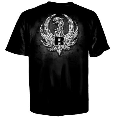 Ruger Bullet Eagle Logo T Shirt  Rugged Reliable Firearms Made In Usa  M 3Xl New