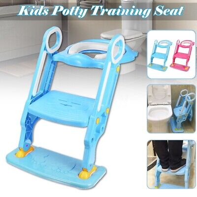 198 lbs Child Potty Trainer Toddler Toilet Seat Chair Kids  w/ Step Stool Ladder
