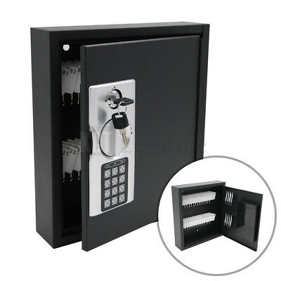 HOME WALL MOUNTED DIGITAL 40 KEY CABINET SECURE BOX SAFE LOCKABLE OFFICE STORE for sale  Shipping to Ireland