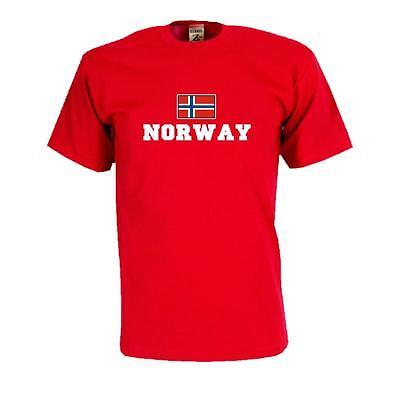 rway), Flag Shirt Herren Fanshirt mit Flagge (WMS02-44a) (Flag Shirt)