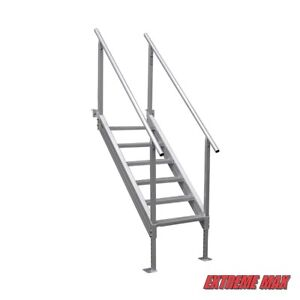 Universal Mount Aluminum Dock Stairs - 6 Step
