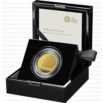 Shaken Not Stirred: Royal Mint 2020 UK One Ounce Gold Proof Coin James Bond III