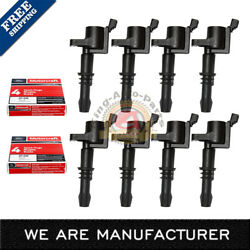 Set of 8 Ignition Coils DG511 Motorcraft Spark Plug SP515/SP546 For Ford Lincoln