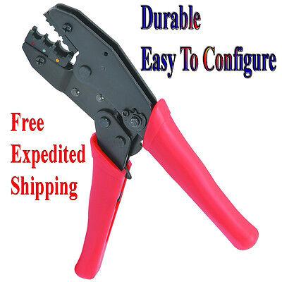 Connector Crimping Tool Adjustable Compression Mechanism Ratchet Crimper
