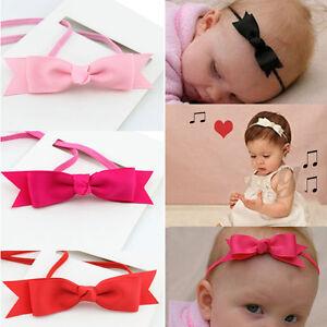 Bandeau elastique noeud papillon bande b b enfant fille serre t te cheveux ebay - Bandeau noeud bebe ...