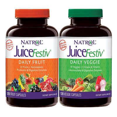 Natrol Organic JuiceFestiv Fruit & Veggie 240 Count - Pack of 2