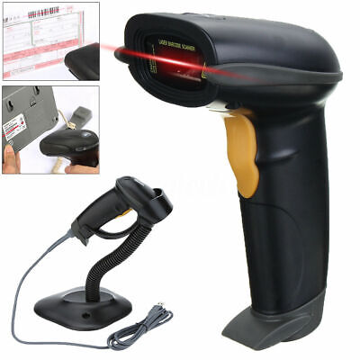 Handheld Usb Wired Laser Barcode Scanner Bar Code Reader With Stand For Pos Pc