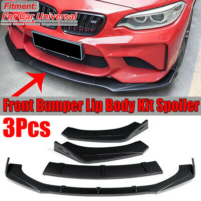 Carbon Fiber Look Front Bumper Lip Spoiler Splitter For BMW F30 F80 M3 F82 M4