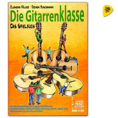 Die Gitarrenklasse - das Spielbuch mit Noten- und Kartenspielen und Dunlop Plek