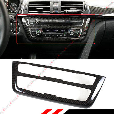 Bmw Interior Panels - FOR BMW F30 F32 F80 F82 CD AC CONSOLE CONTROL PANEL CARBON FIBER TRIM HARD COVER