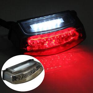 Universal LED Motorrad Rücklicht Bremslicht Beleuchtung Kennzeichenleuchte E4