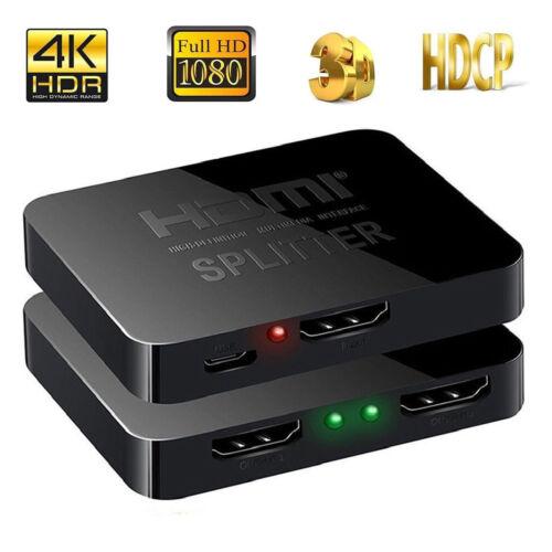 HDMI Splitter 1 in 2 out 4K, HDMI Splitter 1 To 2 Amplifier For Full HD 1080P 3D