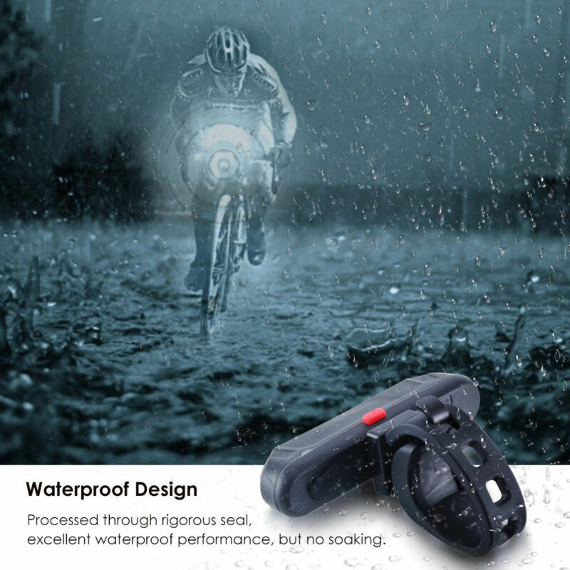 Watertight COB LED Bicycle Bike Cycling Front Rear Tail lamp USB Rechargeable