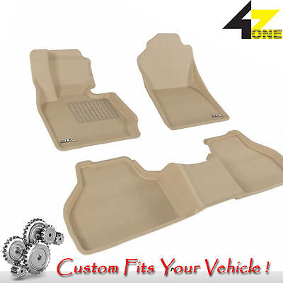 3D Fits 2011-2016 BMW X3 G3AC25151 Tan Carpet Front and Rear Car Parts For Sale