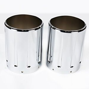 Chrome Aluminum Exhaust tips For Victory Hardball Cross Country Vision Roads