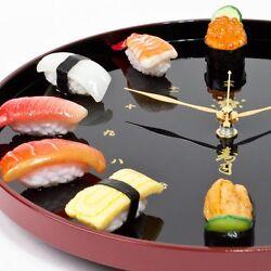 Just like genuine! Sushi Clock Made Japanese Craftsman Food Sample F/S JAPAN