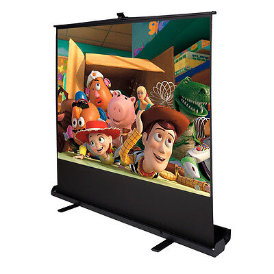 """100"""" Inch 4:3 Portable Pull Up Floor Screen Projector Projection Aluminium Case"""