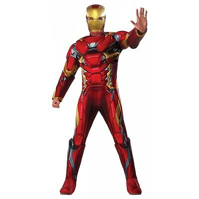 Iron Man Costume Adult Halloween Fancy Dress