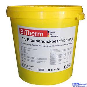 BiTherm 1K Bitumen Dickbeschichtung 30 Liter Spezial Kellerabdichtung