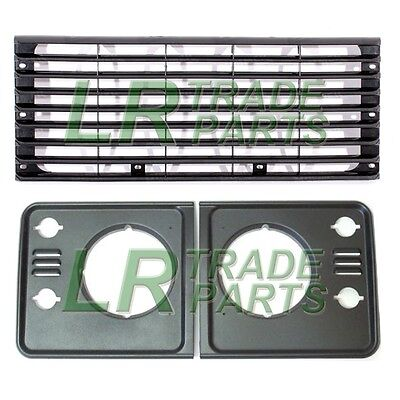 LAND ROVER DEFENDER RADIATOR GRILLE  HEADLAMP SURROUNDS TD5 STYLE UPGRADE KIT