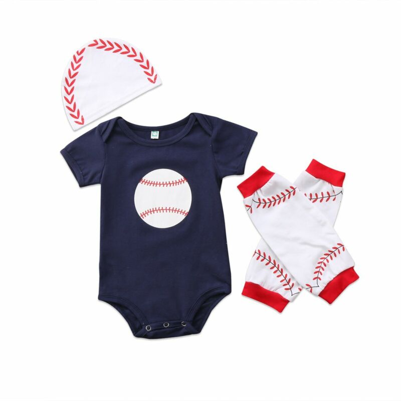 S-998 3PC Infant Boys Baseball Outfit (Ready to Ship from Ohio)(Free Shipping)