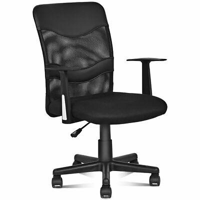 Modern Mesh Mid-Back Executive Computer Desk Task Office Chair Ergonomic Black