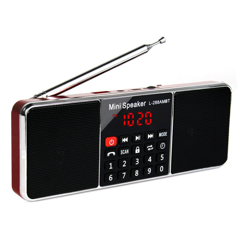 Portable FM Stereo/AM Radio Super Bass Blutooth Speaker MP3 Player Sleep