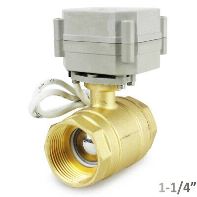 Brass 1-14 12v To 24v Acdc Cr3-03 Power Onoff Motorized Electric Ball Valve