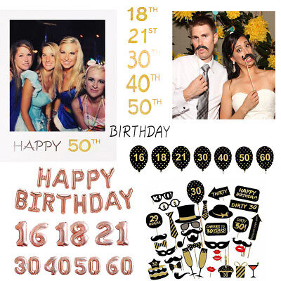 irthday Party Balloons Banner Photo Booth Selfie Props Frame (21st Birthday Party Dekorationen)