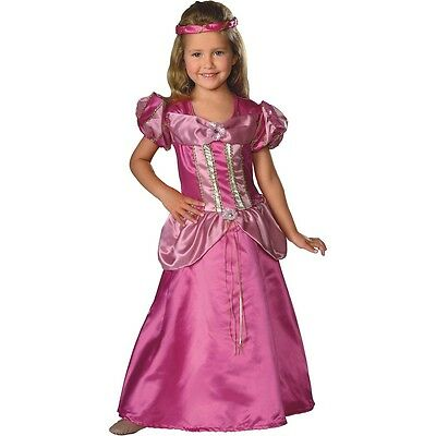 Fairy Tale Princess Costume Kid Toddler Girls Medieval Renaissance Dress-Up Gown
